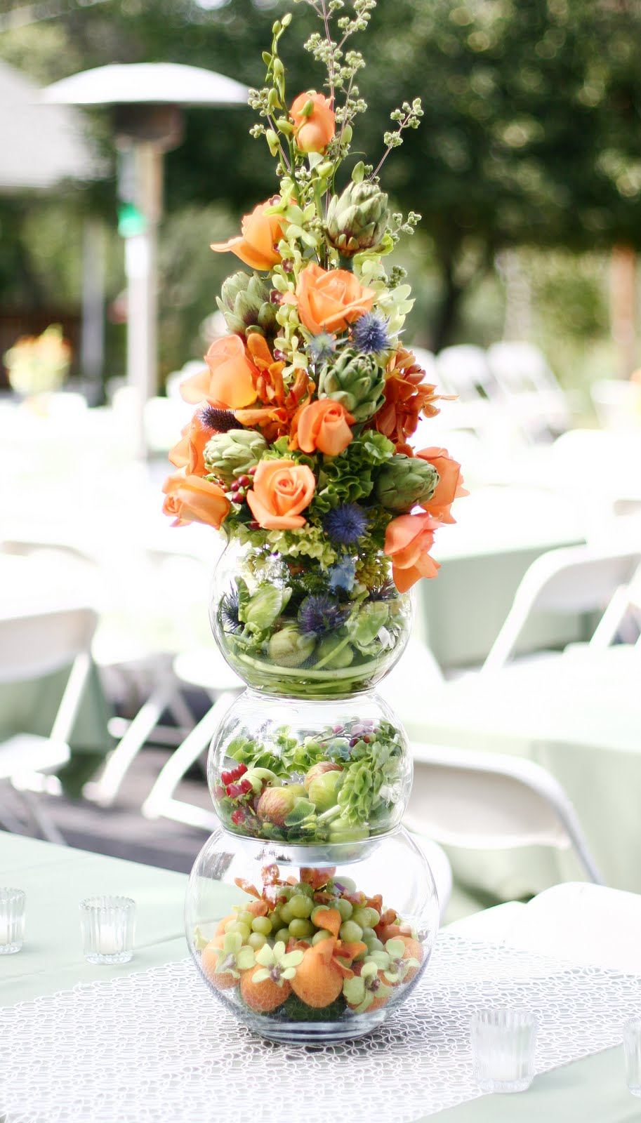 Blooms Blog: Fruit And Flowers A Lovely Backyard Wedding