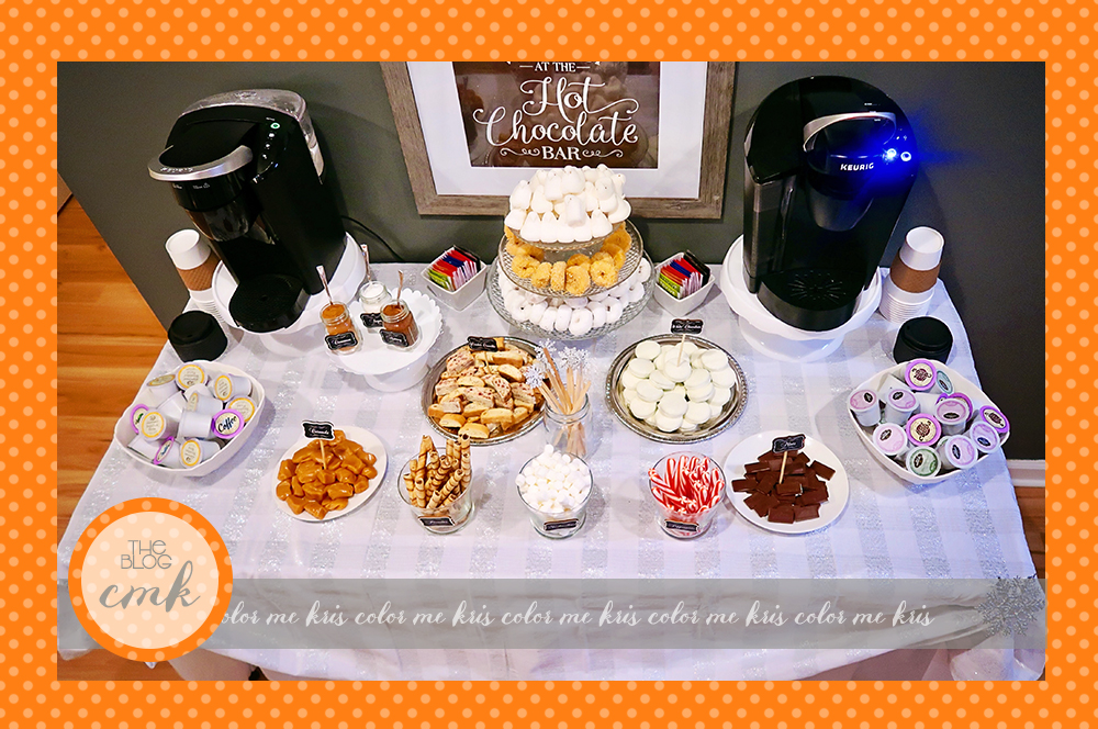 how to set up a coffee bar hot cocoa bar using a keurig color me kris. Black Bedroom Furniture Sets. Home Design Ideas