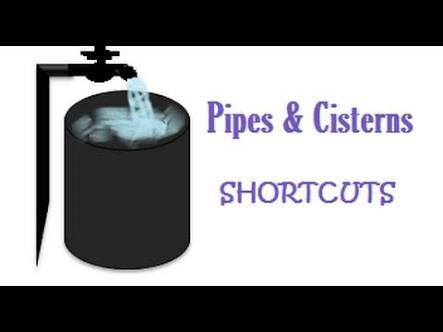 PIPES AND CISTERNS SHORTCUT TRICKS WITH EXAMPLE