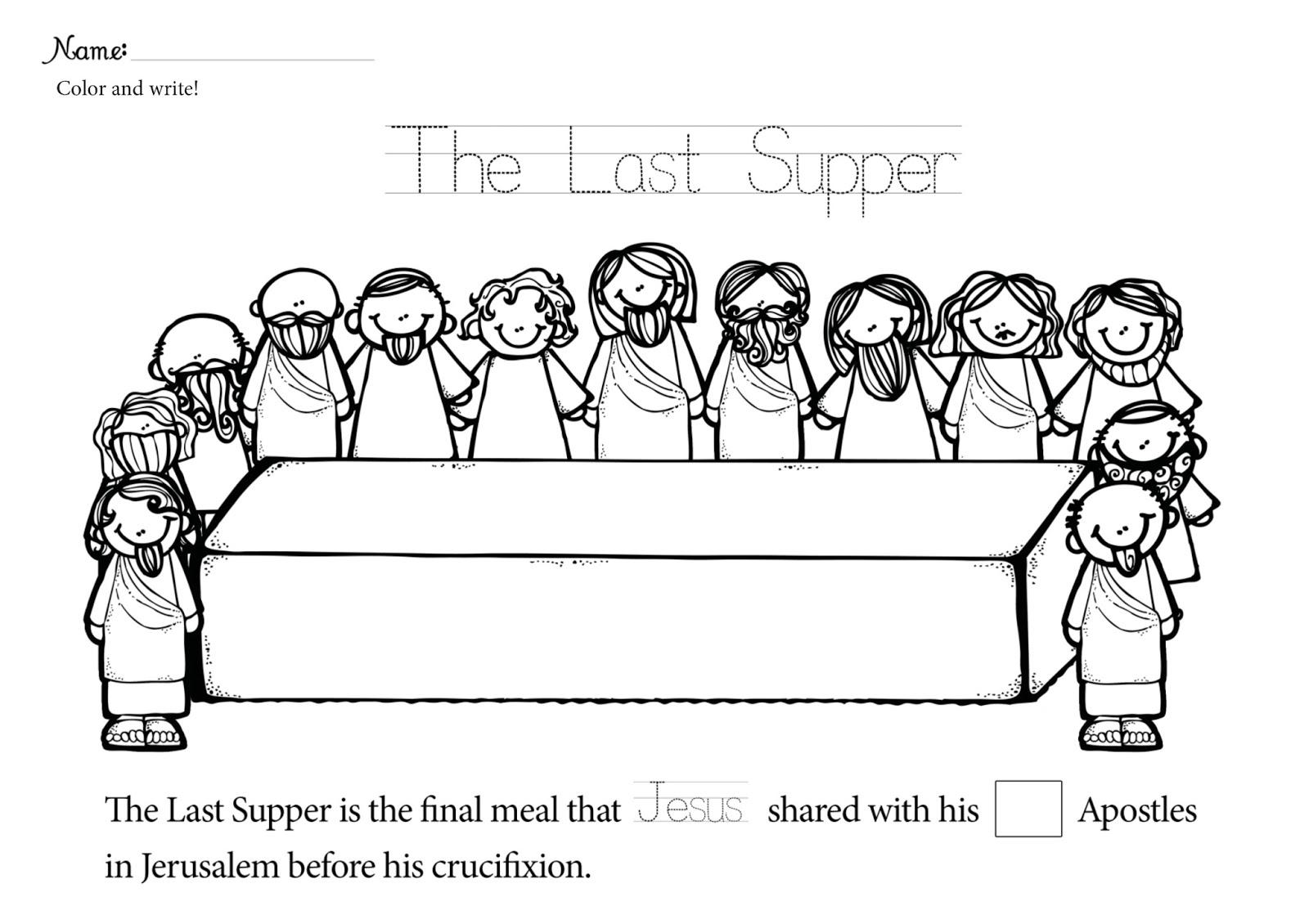 Jesus Last Supper Coloring Page Democraciaejustica