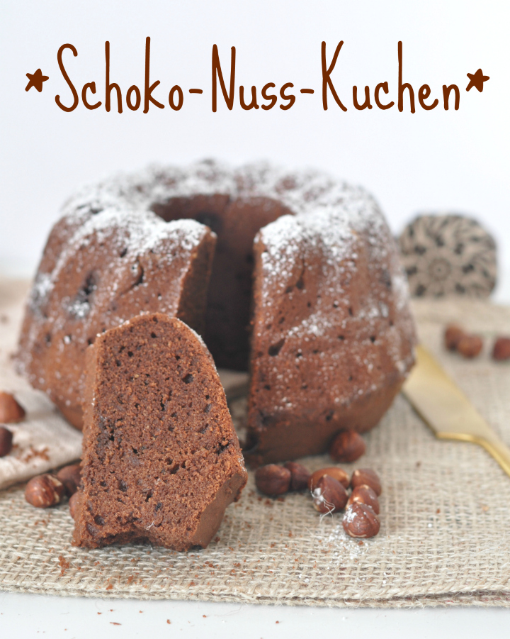 Chocolate-Nut-Cake, glutenfree and rich in nut flavour