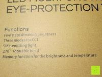 Funktion: CRECO 7W LED Tischlampe 5 Helligkeitsstufen 3 Modi dimmbar 270° drehbar Schreibtischlampe Schwarz [Energieklasse A+]