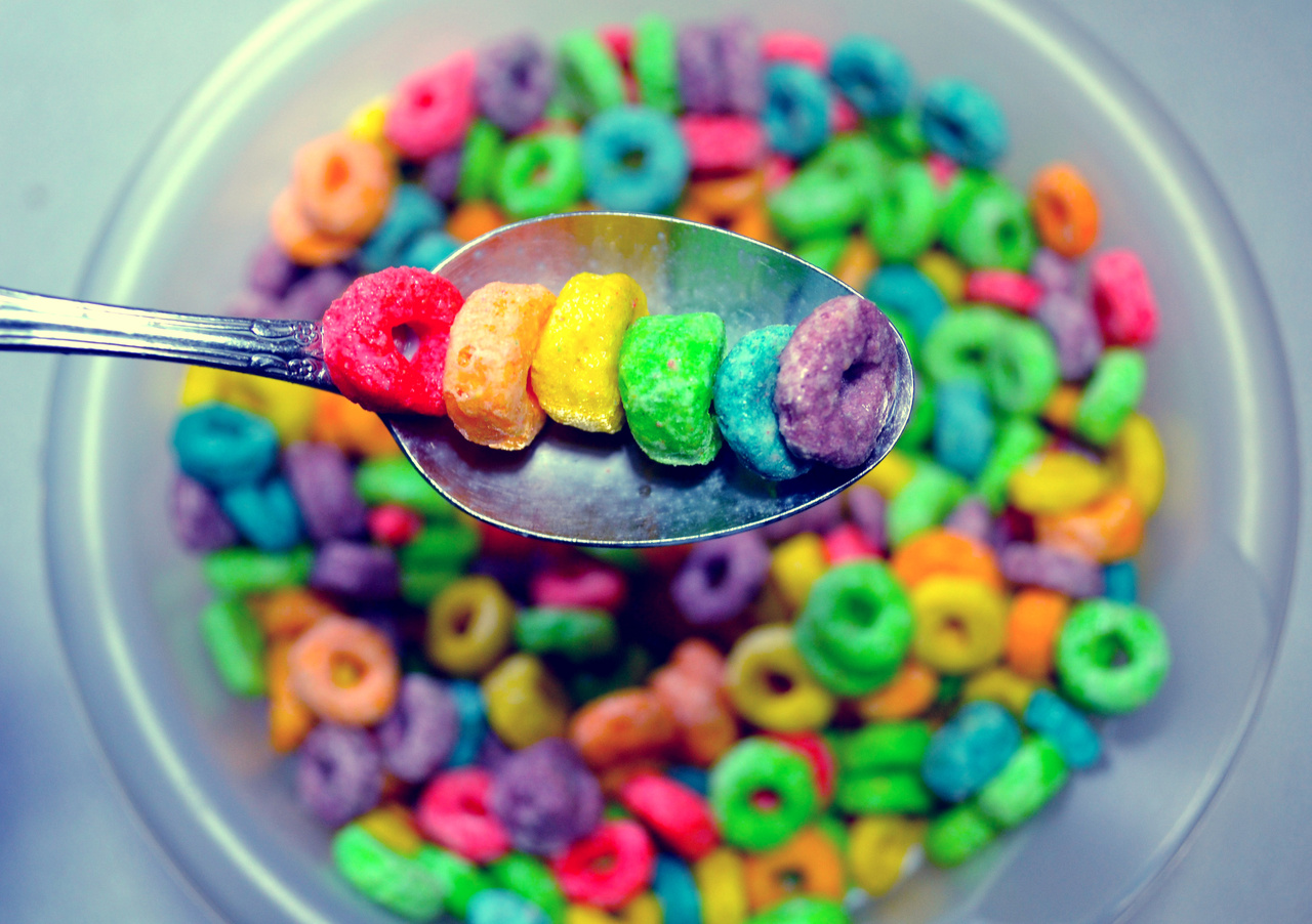 The Colorful White Colorful Cereals