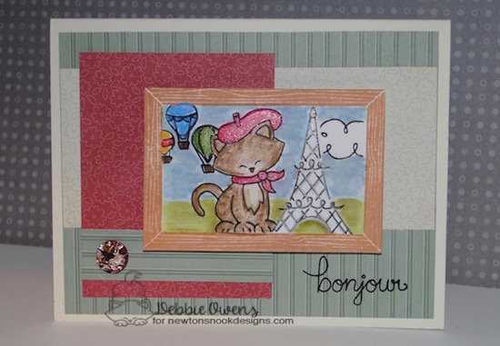 Bonjour by Debbie features Newton Dreams of Paris by Newton's Nook, #newtonsnook