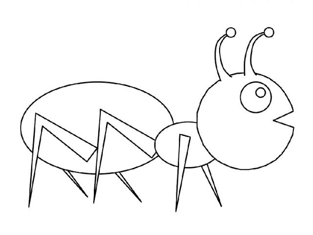 Gambar Mewarnai Semut - 7
