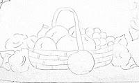 risco de cesta com maças