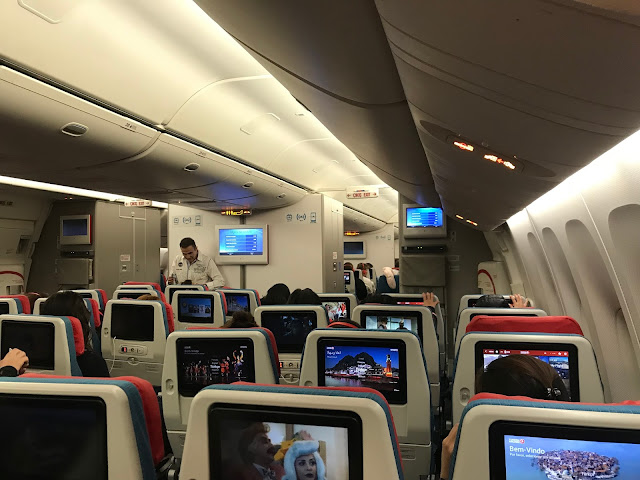 Onboard a Turkish Airlines flight from Manila to Istanbul