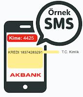 Akbank Smsle Örnek Kredi Başvurusu Görseli
