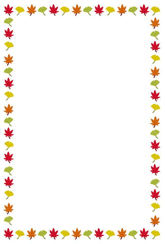 いろいろな秋のイメージのフレーム かわいいフリー素材集 いらすとや