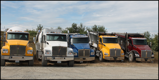 Lineup of Kenworth T880 Trucks