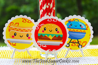 Free BBQ Birthday Party Printables The Iced Sugar Cookie