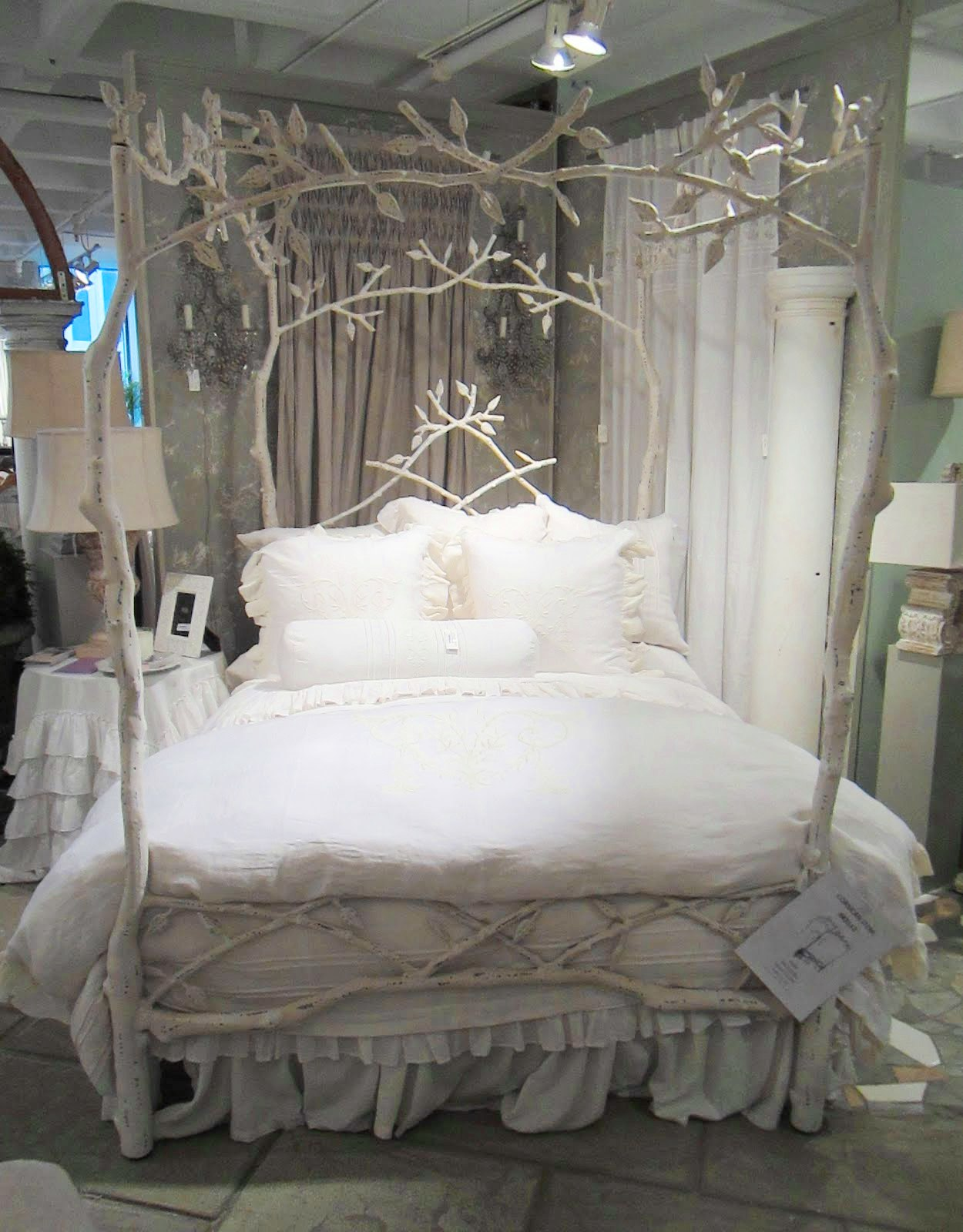 white tree branch bed frame | MAKE YOUR BED - DREAMY LUXE LINENS! | Nbaynadamas ...