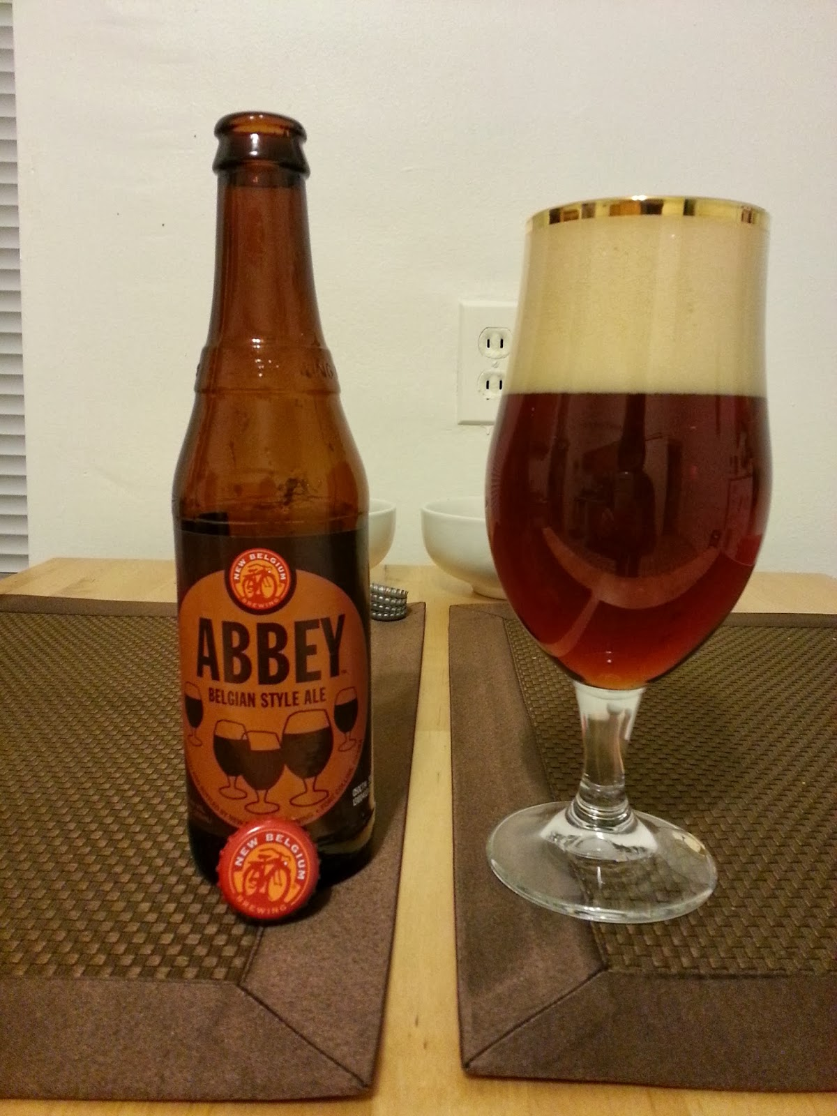 New Belgium Brewery Company's Abbey Belgian Style Ale   I