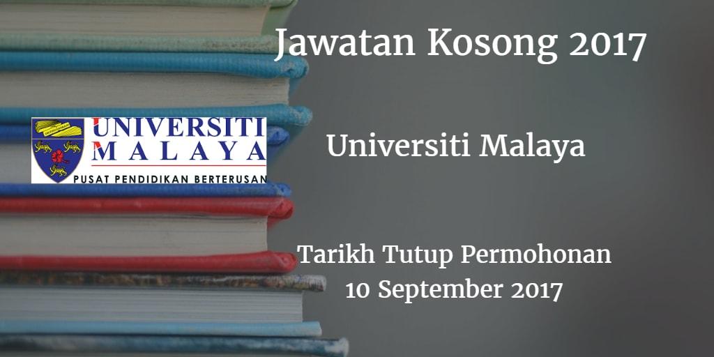 Jawatan Kosong UM 10 September 2017