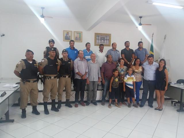 PM de Ponto dos Volantes, MG recebe Moção de Parabenização da Câmara de Vereadores