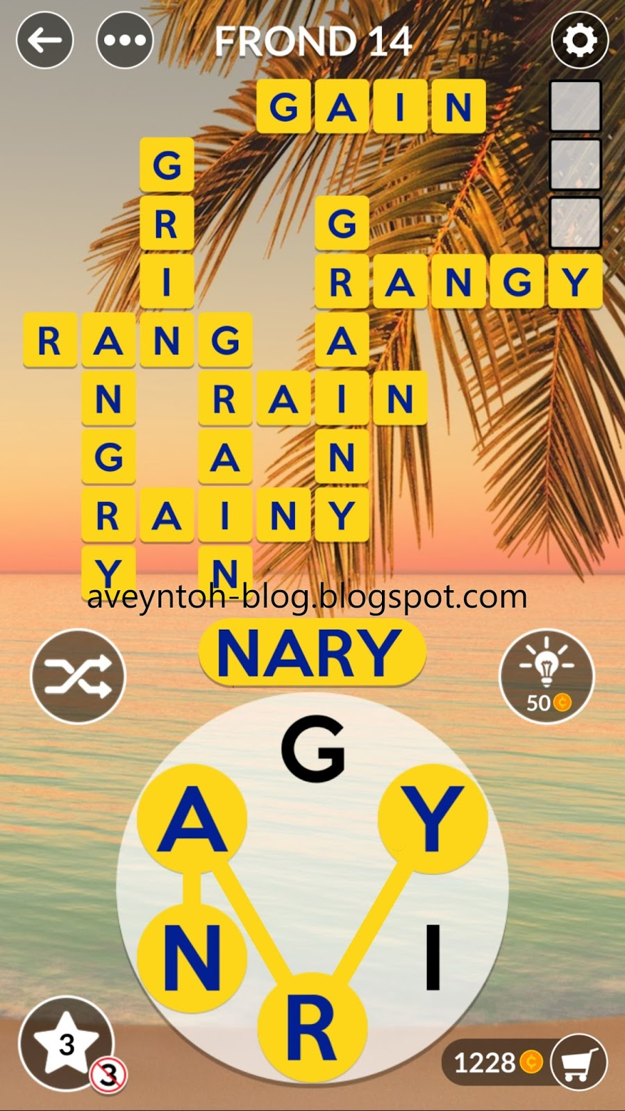 Aveyns Blog Wordscapes Answers - Tropic - Frond-8845
