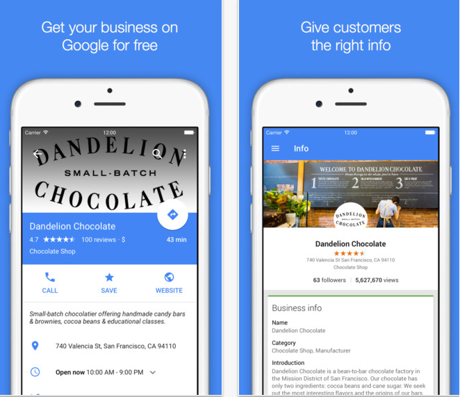 L'application Google My Business s'affiche désormais en Material Design