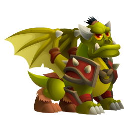 Appearance of Orc Dragon when teenager