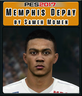 PES 2017 Faces Memphis Depay by Sameh Momen
