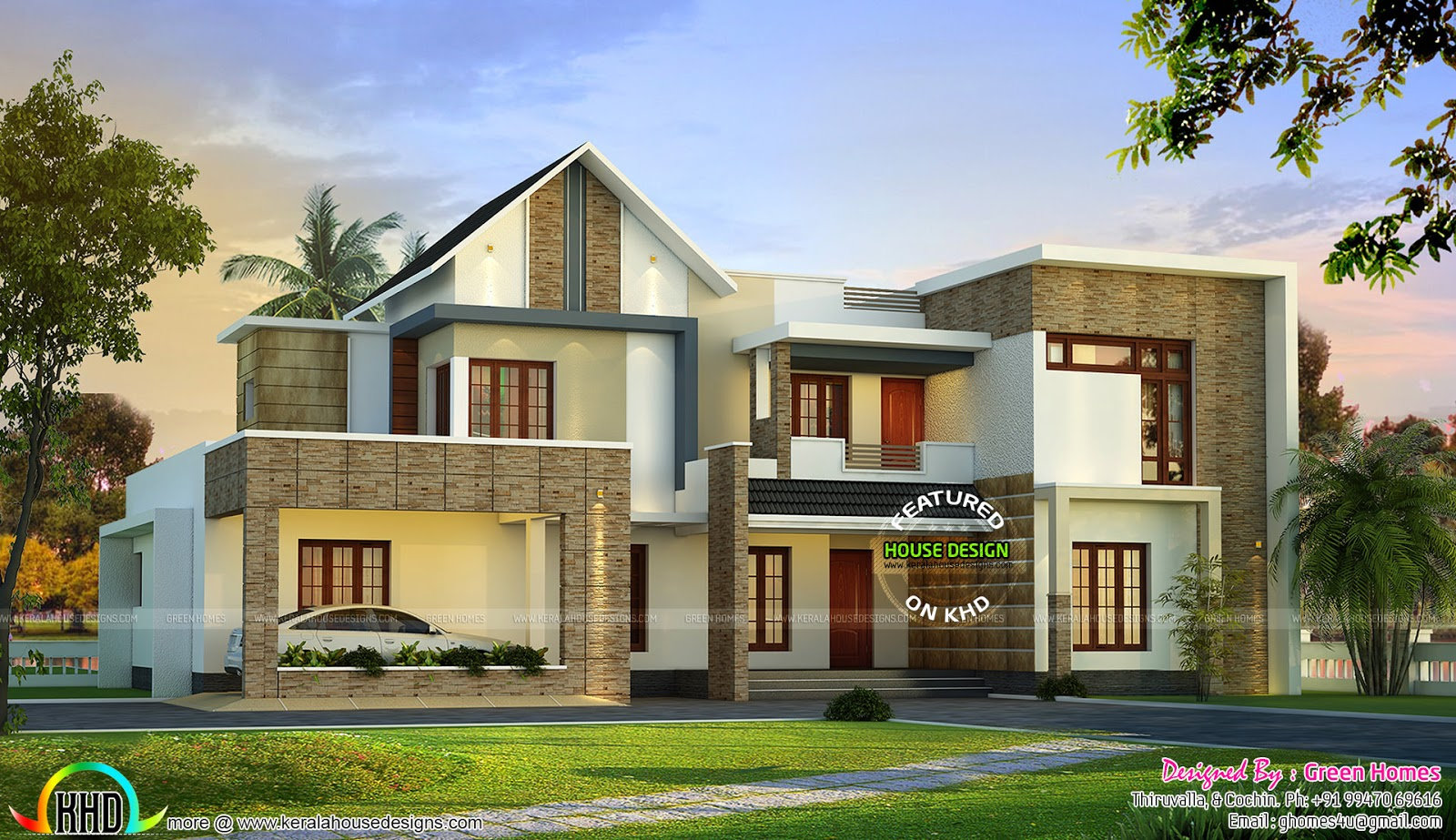February 2016 kerala home design and floor plans for 3500 square foot house