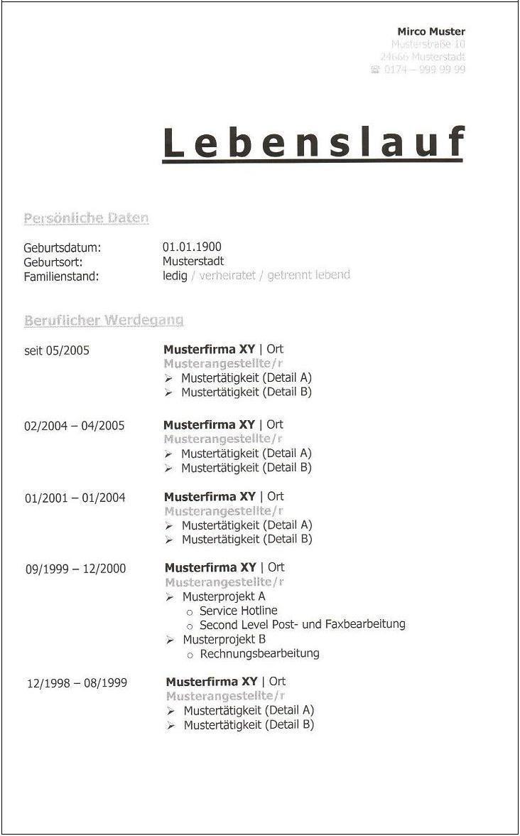 Nett Brauche Probe Mba Hr Lebenslauf Format Ideen - Entry Level ...