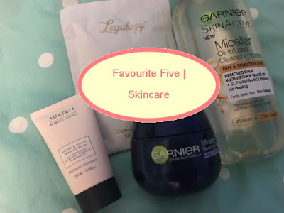 Aurelia, Beauty, Elemis, Favourite Five, Garnier, Legology, Skin, Skincare