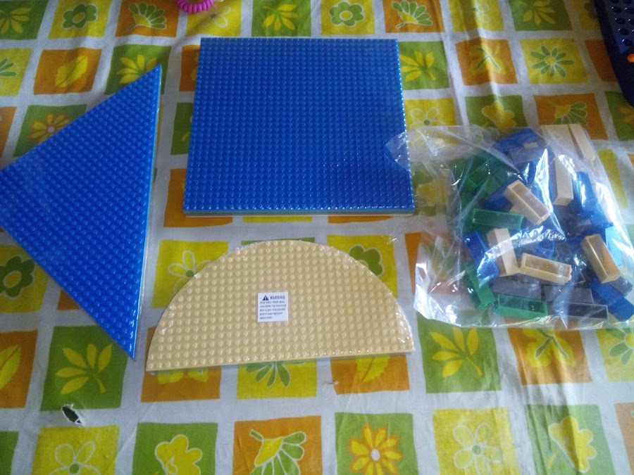 12 bases lego mas bloques apilables