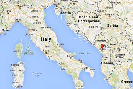 mappa di scutari shkoder Albania