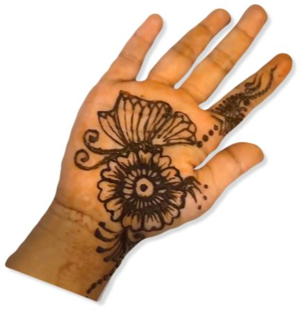 Butterfly Mehndi Designs