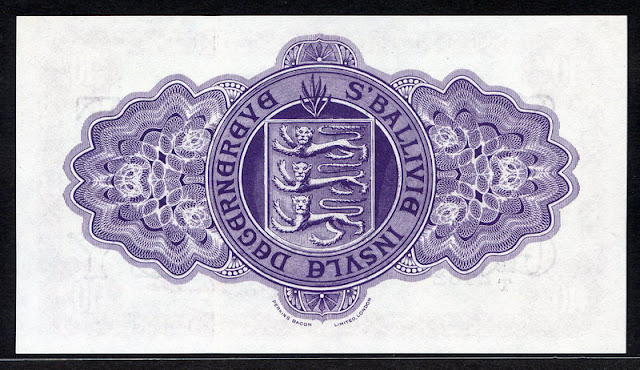 World banknotes Guernsey 10 Shilling note currency collection