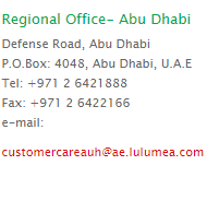 lulu abu dhabi official phone contact number and email id