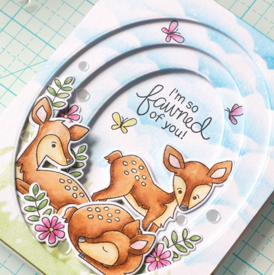 Love You Deerly Card by April Guest Designer Svetlana Pavlova | Deer Friend Stamp Set by Newton's Nook Designs #newtonsnook