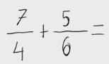 19.   Suma de fracciones
