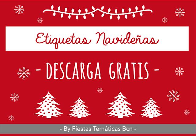 ETIQUETAS REGALOS NAVIDAD GRATIS DESCARGAR