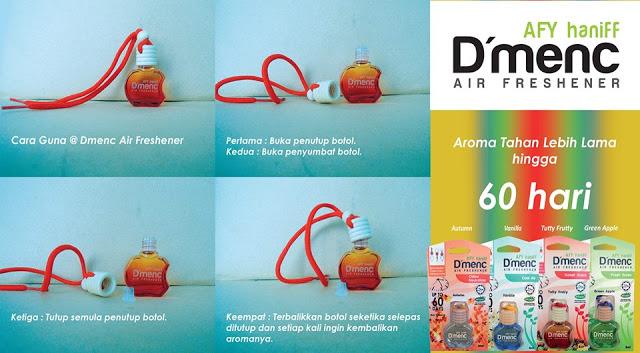 Cara Menggunakan D'MENC AIR FRESHENER