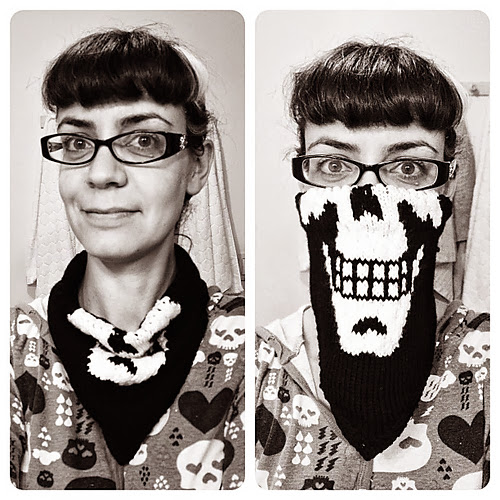 Cuello Bufanda Crochet Calavera Halloween