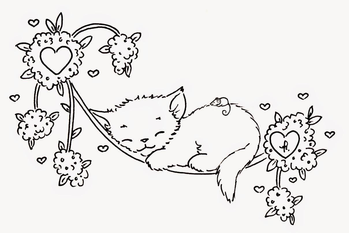 Desenhos De Gatos E Gatinhos Para Colorir, Pintar E