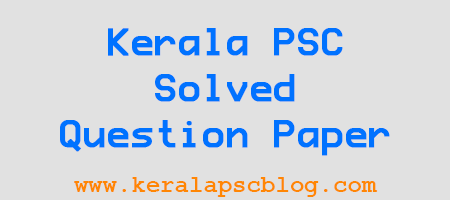 Kerala PSC Confidential Assistant Grade Exam Question Paper 2014