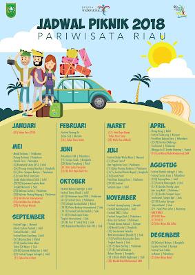 kalender pariwisata riau 2018 jadwal piknik jalan-jalan