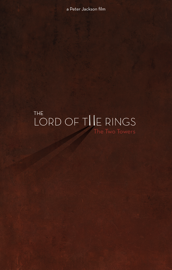 Gustavo Estrella. Lord of the Rings Minimal Posters.