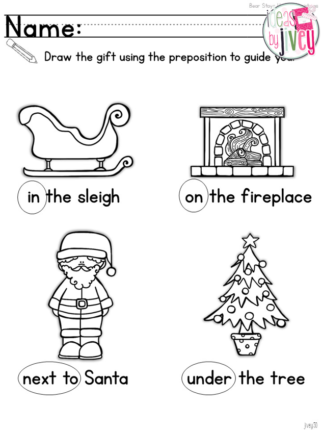 Bear Stays Up For Christmas: Prepositions {K-1 Mentor