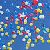 Mass balloon release at SSVM World School, Coimbatore, India