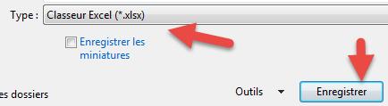 Enregistrer le fichier texte en xlsx