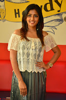Eesha in a cute deep neck top and Skirt at at Big FM 082.JPG