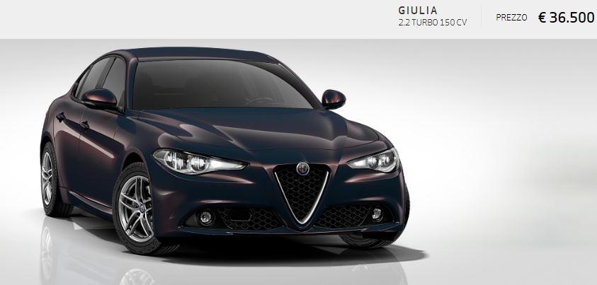 Alfa Romeo Giulia colore Metallizzato-Grigio Lipari