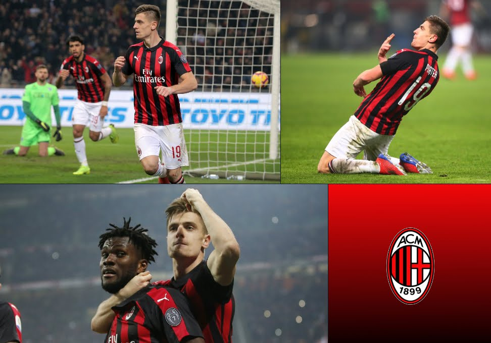 Milan batte Empoli 3-0, gol di Piatek Kessie Castillejo, confermato il 4° posto in classifica.