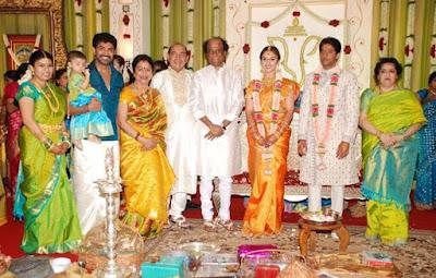 Rajnikant in Sridevi Vijaykumar and Rahul wedding