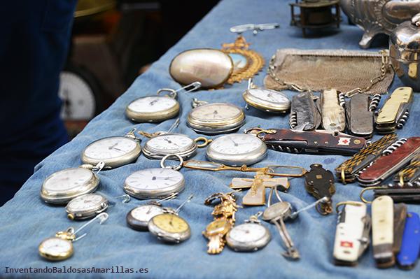 Objetos vintage en El Rastro