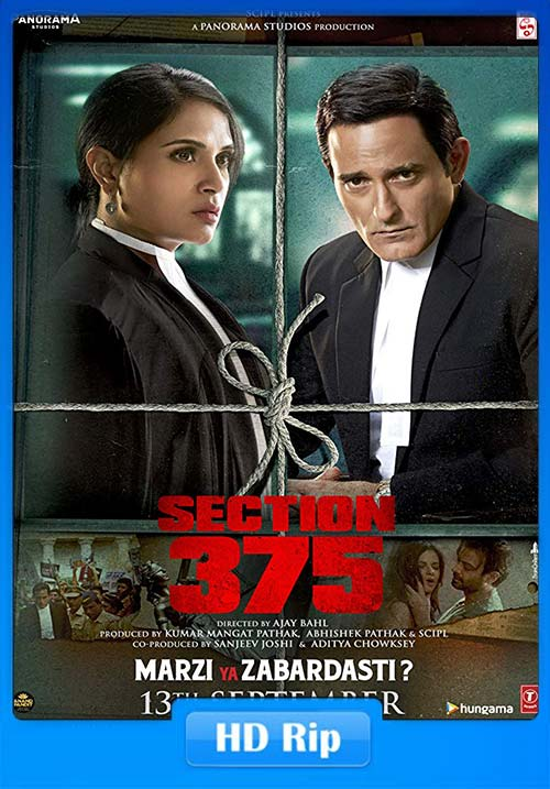 Section 375 2019 Hindi 720p HDRip ESubs x264 | 480p 300MB | 100MB HEVC