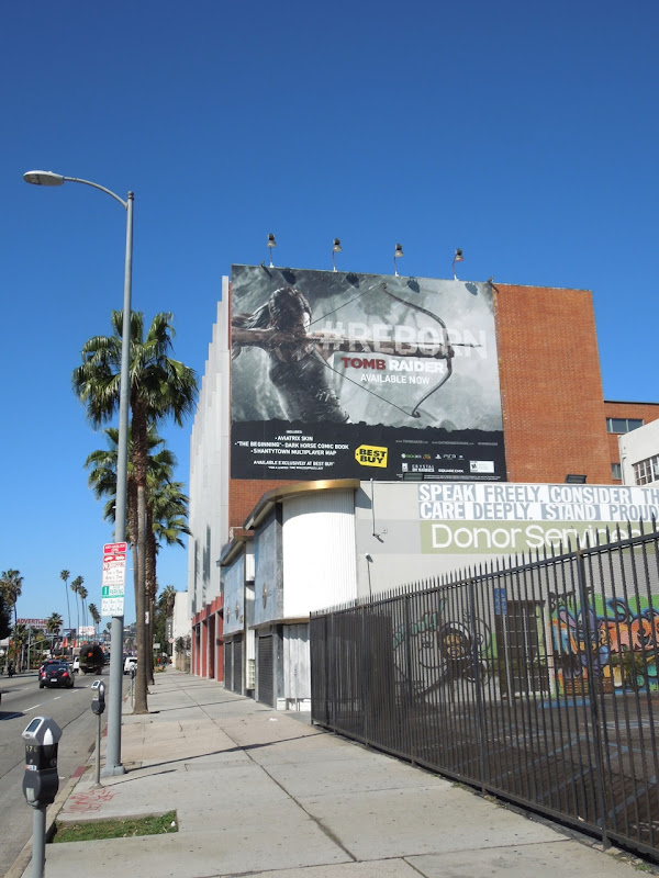 Tomb Raider Reborn video game billboard